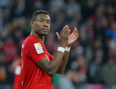 MUNICH,GERMANY,21.FEB.20 - SOCCER - 1. DFL, 1. Deutsche Bundesliga, FC Bayern Muenchen vs SC Paderborn 07. Image shows the rejoicing of David Alaba (Bayern). Photo: GEPA pictures/ Thomas Bachun - DFL regulations prohibit any use of photographs as image sequences and/or quasi-video.