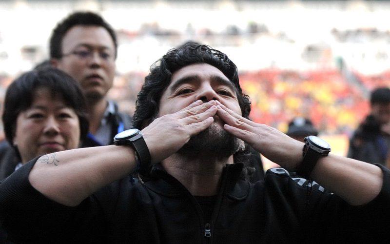 FUSSBALL – Diego Maradona, China-Tour, Benefiz-Fussball-Spiel