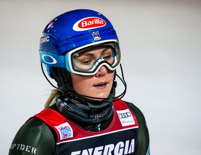 ZAGREB,CROATIA,04.JAN.20 - ALPINE SKIING - FIS World Cup, slalom, ladies. Image shows the disappointment of Mikaela Shiffrin (USA). Photo: GEPA pictures/ Matic Klansek