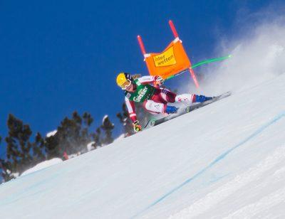 SANKT ANTON,AUSTRIA,07.JAN.21 - ALPINE SKIING - FIS World Cup, downhill, training, ladies. Image shows Tamara Tippler (AUT).