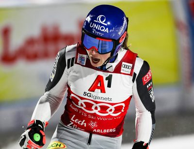LECH,AUSTRIA,26.NOV.20 - ALPINE SKIING - FIS World Cup Lech/ Zuers, parallel giant slalom, ladies. Image shows the rejoicing of Petra Vlhova (SVK). Photo: GEPA pictures/ Patrick Steiner
