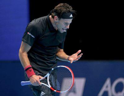 LONDON,ENGLAND,22.NOV.20 - TENNIS - ATP Finals, final. Image shows Dominic Thiem (AUT).