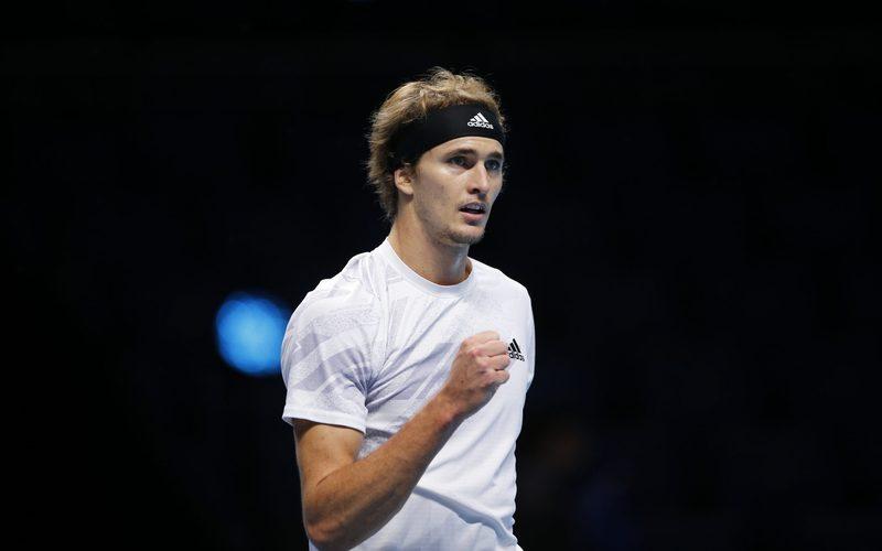 LONDON,ENGLAND,18.NOV.20 – TENNIS – ATP Finals. Image shows the rejoicing of Alexander Zverev (GER).