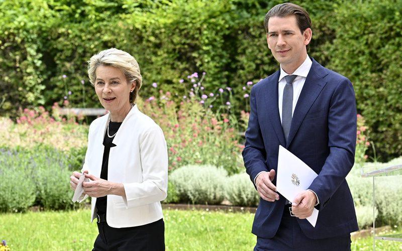 EU-KOMMISSIONSPRÄSIDENTIN ZU EINEM OFFIZIELEN ARBEITSBESUCH IN WIEN: VON DER LEYEN / KURZ