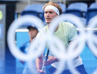TOKYO,JAPAN,26.JUL.21 - OLYMPICS, TENNIS - Summer Olympic Games 2020, singles, men. Image shows Alexander Zverev (GER).