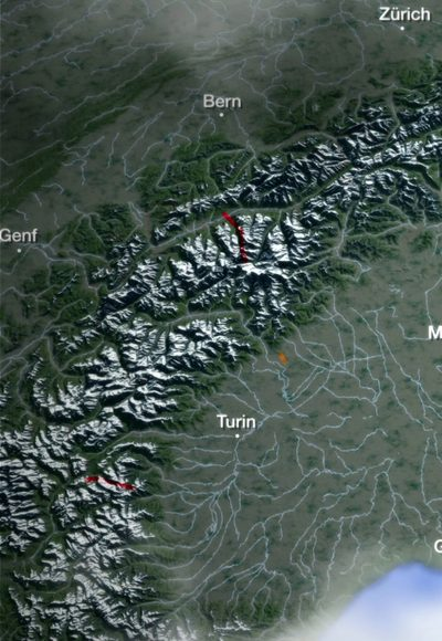 Die Pässe der Alpen