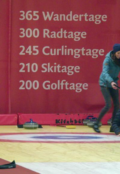 Curling und Mega-Flohmarkt