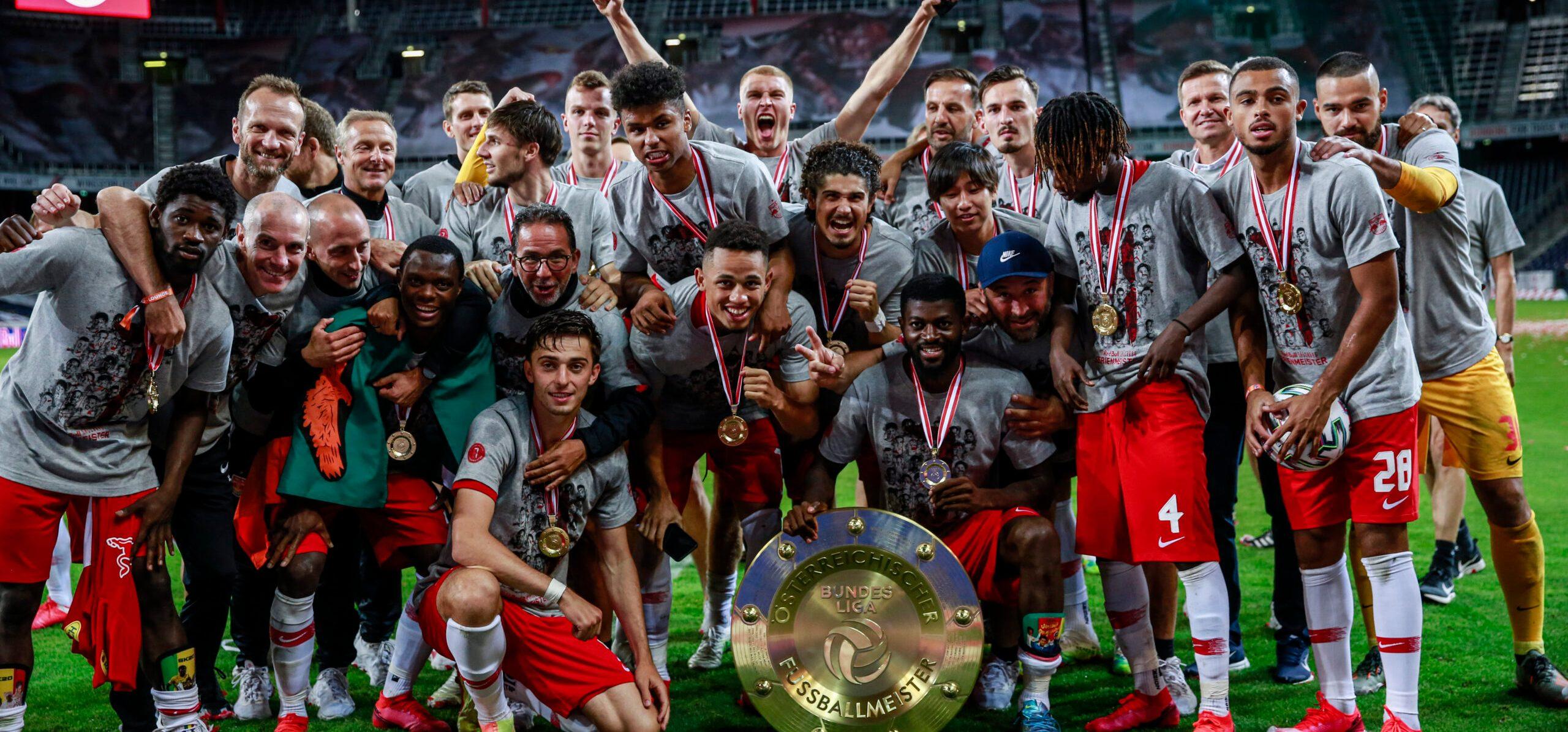 Fußball: Salzburg freut sich über Meisterteller und rosige Aussichten