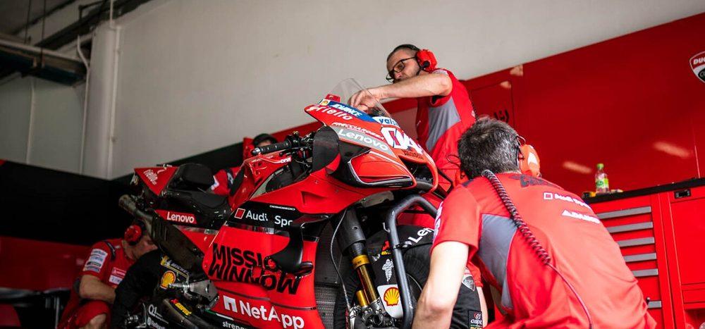 Nur drei Mitarbeiter im Einsatz: Ducati in Katar mit Logistik-Problemen