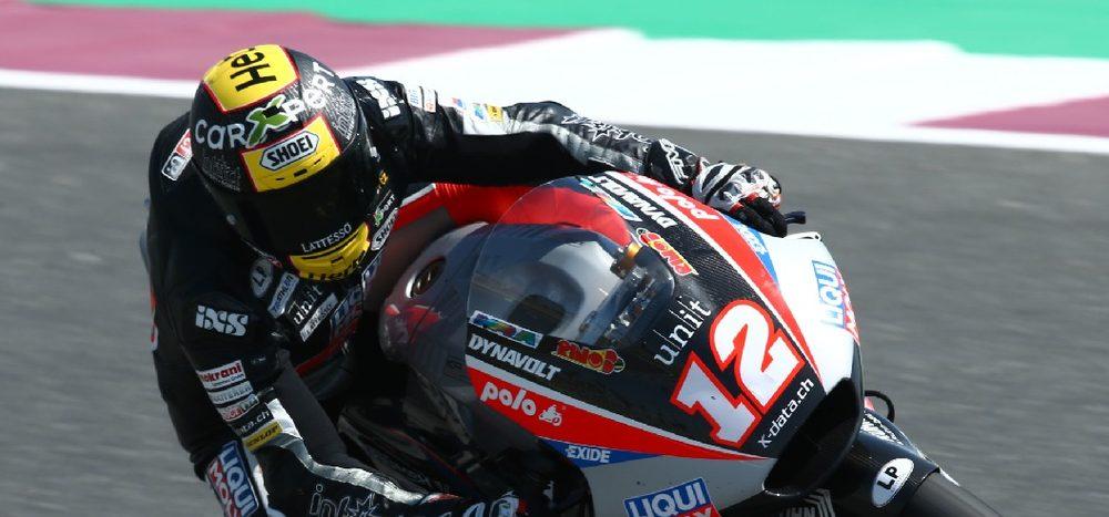 Moto2 in Katar: Lüthi sichert sich erste Trainingsbestzeit