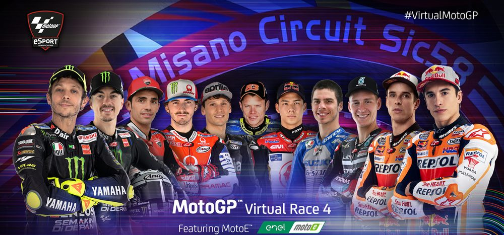 MotoGP Virtual Race Misano: eSports-Rennen auf ServusMotoGP.com
