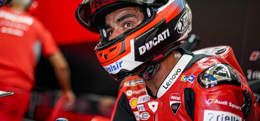 Crash: Petrucci rutschte auf Ölspur aus