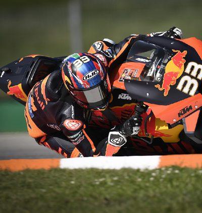 Binder mit erstem KTM-Sieg