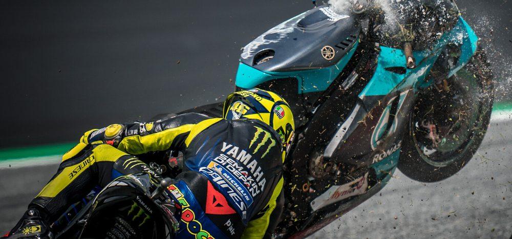 """Valentino Rossi: """"Die Schutzengel der MotoGP leisteten gute Arbeit"""""""