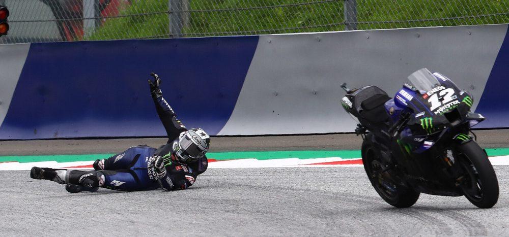 Bremsversagen! Vinales springt bei über 200 km/h von seiner Yamaha