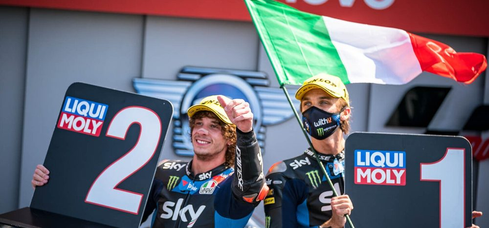 Moto2 in Misano: Luca Marini führt italienischen Dreifach-Sieg an