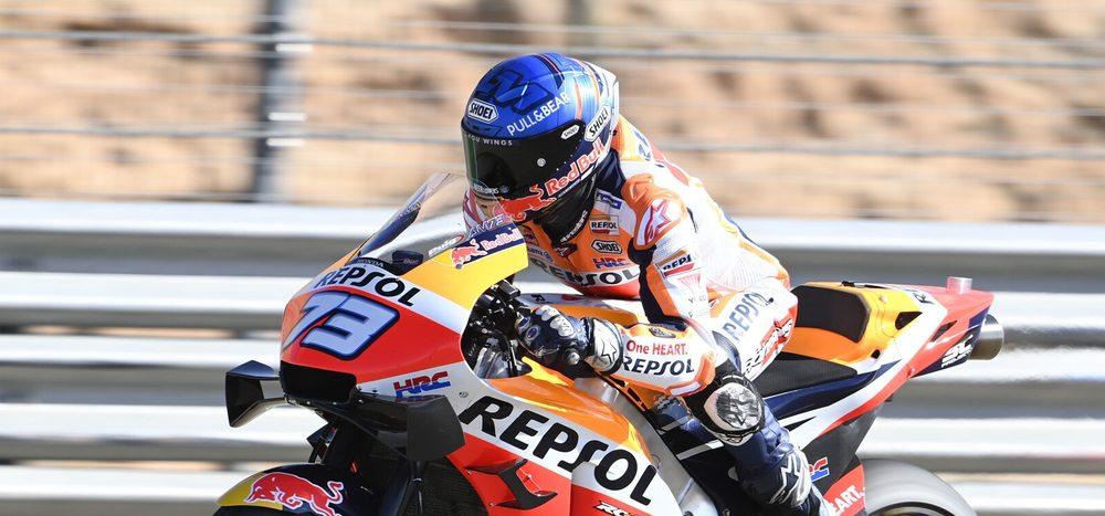 FP1 MotoGP Aragon 2: Alex Marquez trotz Sturz Schnellster