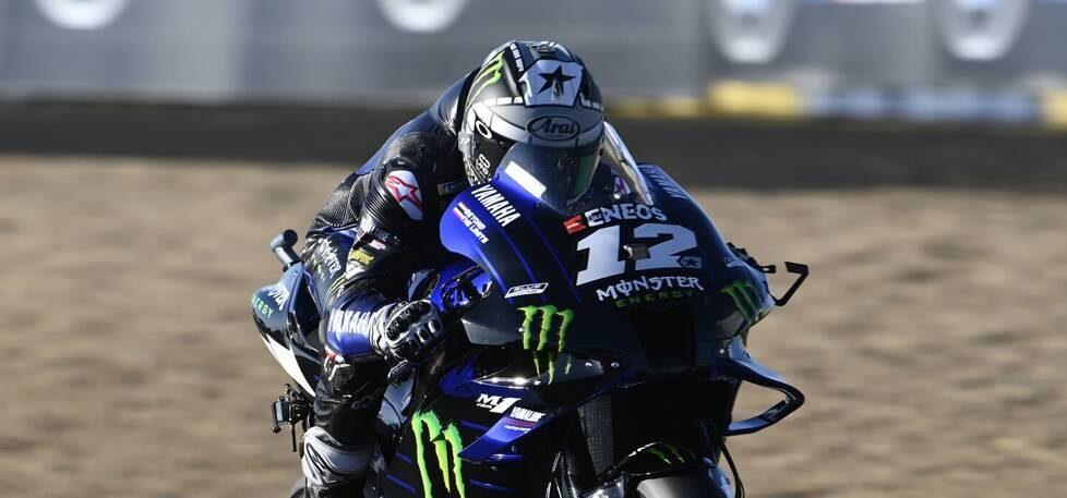 FP1 MotoGP Aragon: Yamaha Dreifach-Spitze