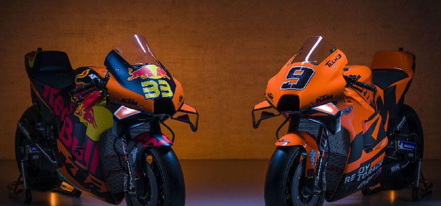 MotoGP 2021: KTM enthüllt beide Bikes – Tech 3 mit neuem Look